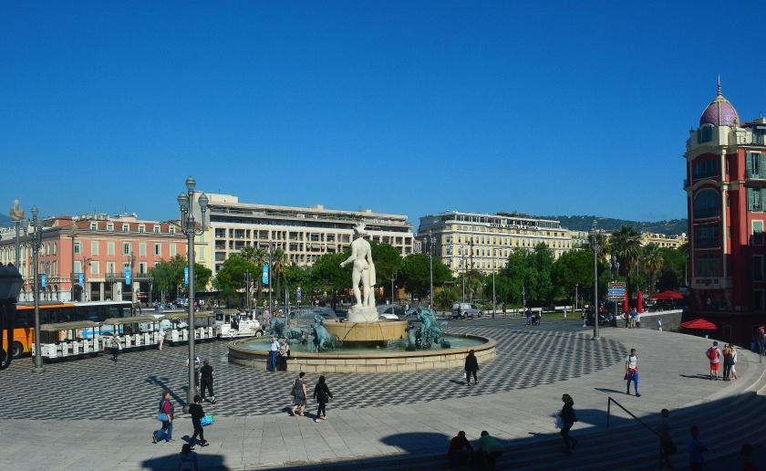 View from Hotel de la Mer in Nice