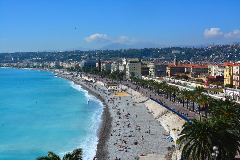 View of Nice from Castle hill