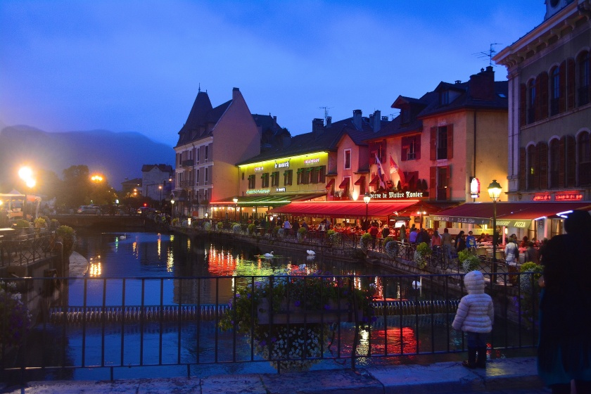 Picturesque Alpine Lake town of Annecy