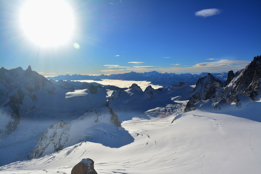 View from the top of Aiguille du Midi