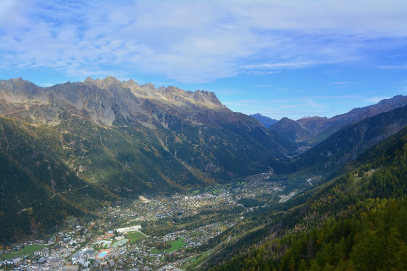 Chamonix Valley from Place Aiguille