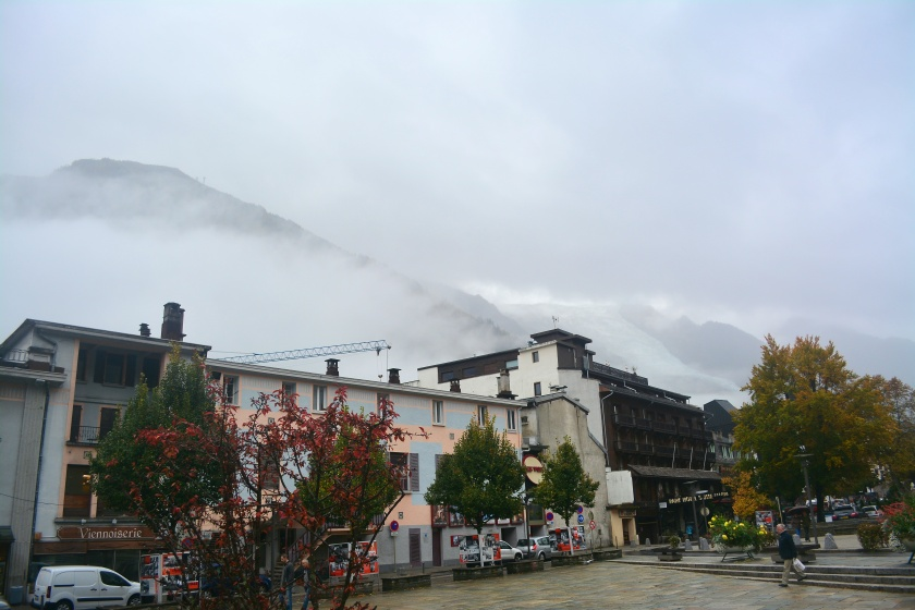 Foggy morning in Chamonix
