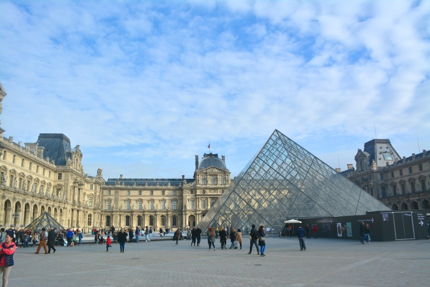 The famous Louvre museum at Paris